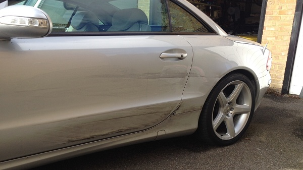 Mercedes SL Repairs Paintwork Maidstone