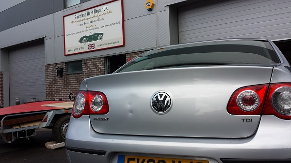 Passat before PDR repair Maidstone Car Bodyshop
